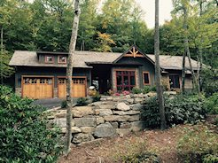 Custom built home in the Birches at Wildcat Cliffs, Highlands NC