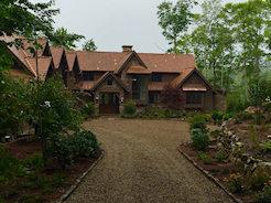 Sadlon & Associates Custom home in Mountaintop Golf and Lake Club, Cashiers NC, designed by Platt Architecture, Brevard, NC