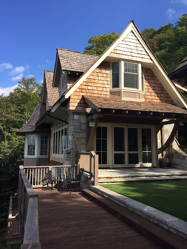 Custom home on historic satulah mountain highlands nc for Custom victorian homes