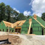 Spectacular new home underway in Mountaintop Golf and Lake Club, Cashiers NC. Design by Ryan Duffey, Architect - Atlanta, GA #7685